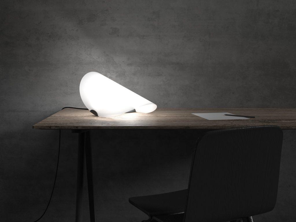 diseño lampara mesa luz ambiente